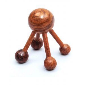 best yoga accessories dubai Wooden Acupressure Massager With 5-Knobs From GreenTree