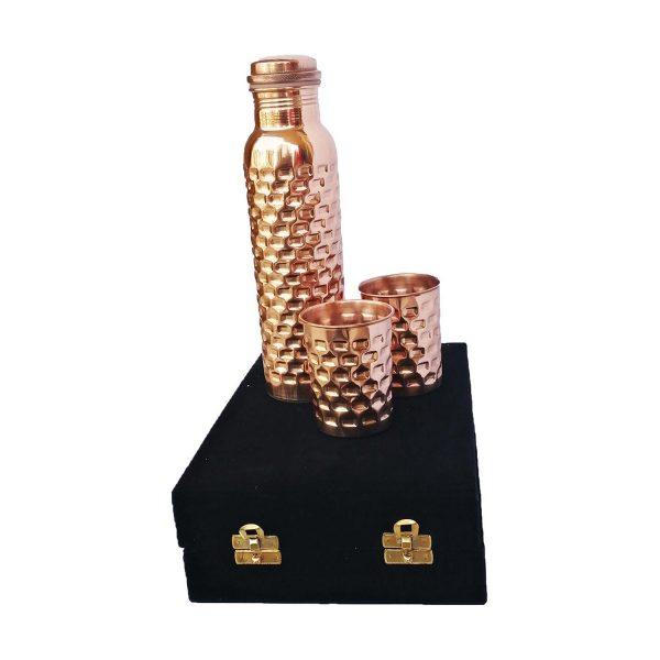 GreenTree logo on copper water bottle dubai