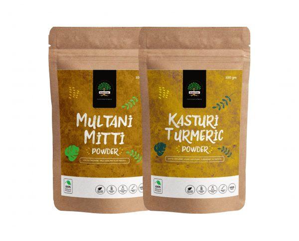 Multani and kasturi turmeric for skin whitening,